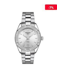 Ceas  elegant argintiu de damaTissot T1019101103100