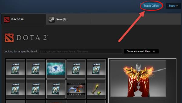 Cara Kirim Item Dota 2 via Trade Offer