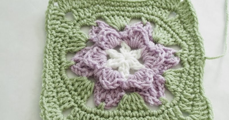 Square Crochet Motifs Pattern Star Flower The Chilly Dog