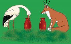 Fox-and-crane-story