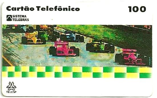 Cartão telefônico - Telesp - Grande Prêmio Brasil de F1