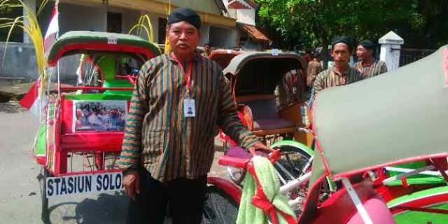 Usai Antar Tamu Jokowi, Tukang Becak Meninggal Dunia