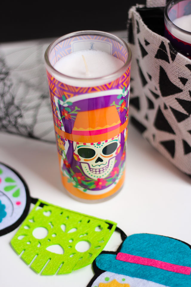 Love these Day of the Dead candles!