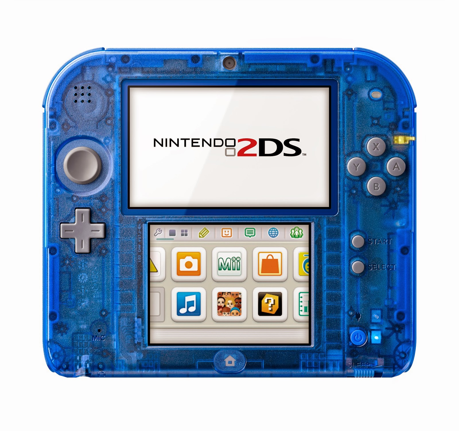 Nintendo 2DS in Crystal Blue