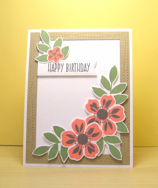 Lisa Johnson Designs Whimsical Greetings stamp set, Flashy Florals stamp set and Die-namics, Wonky Stitched Rectangle STAX and Blueprints 20 Die-namics - Robin Mayfield #mftstamps