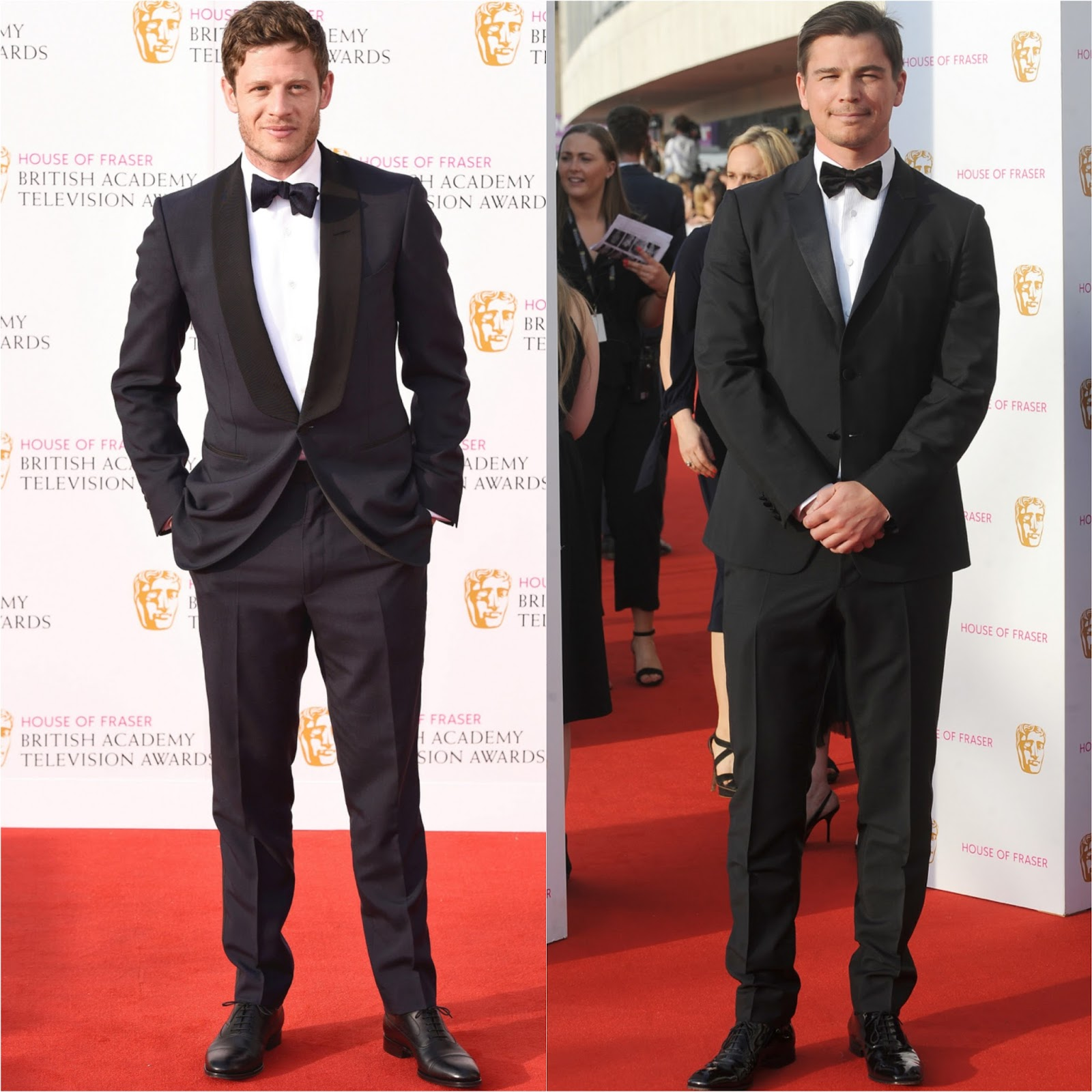 Black dress house of fraser - His Tux Was Styled Simply With A White Button Down Shirt A Black Bow Tie And Black Suede Dress Shoes The Unflattering Trousers Is What Takes Away From His