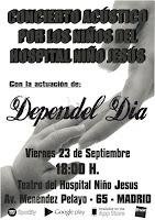 Dependel Día, concierto acústico por los niños del Hospital Niño Jesús