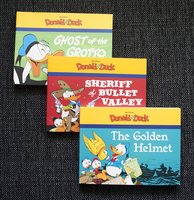 Carl Barks paperbacks from Fantagraphics with Donald Duck stories