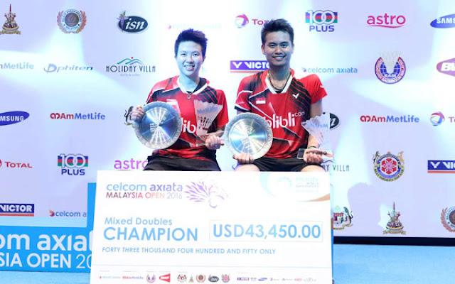 Tantowi Ahmad dan Liliyana Natsir juara malaysia super series 2016
