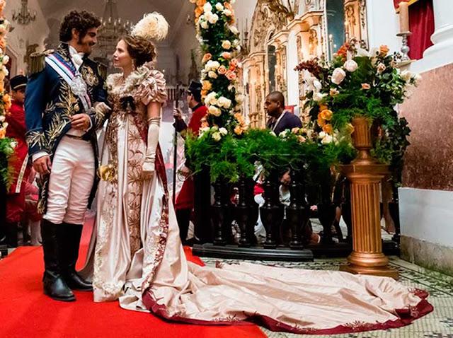 Leopoldina vestido casamento em Novo Mundo