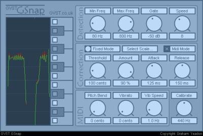 GSnap Free Amazing autotune VST plugin