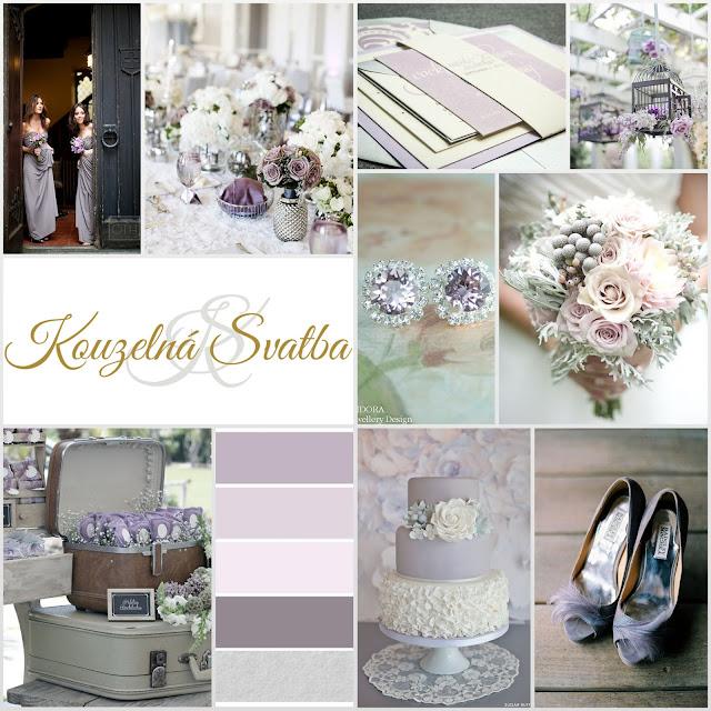 Lilac Gray - fialovo šedá svatba