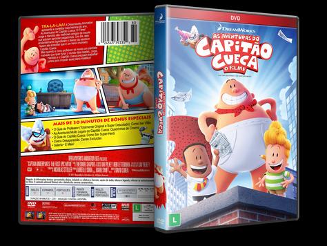 Capa DVD As Aventuras do Capitão Cueca: O Filme [Custom]