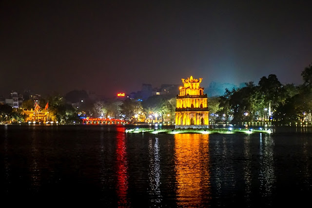 The Hanoi Old Quarter morphs into a different being at night