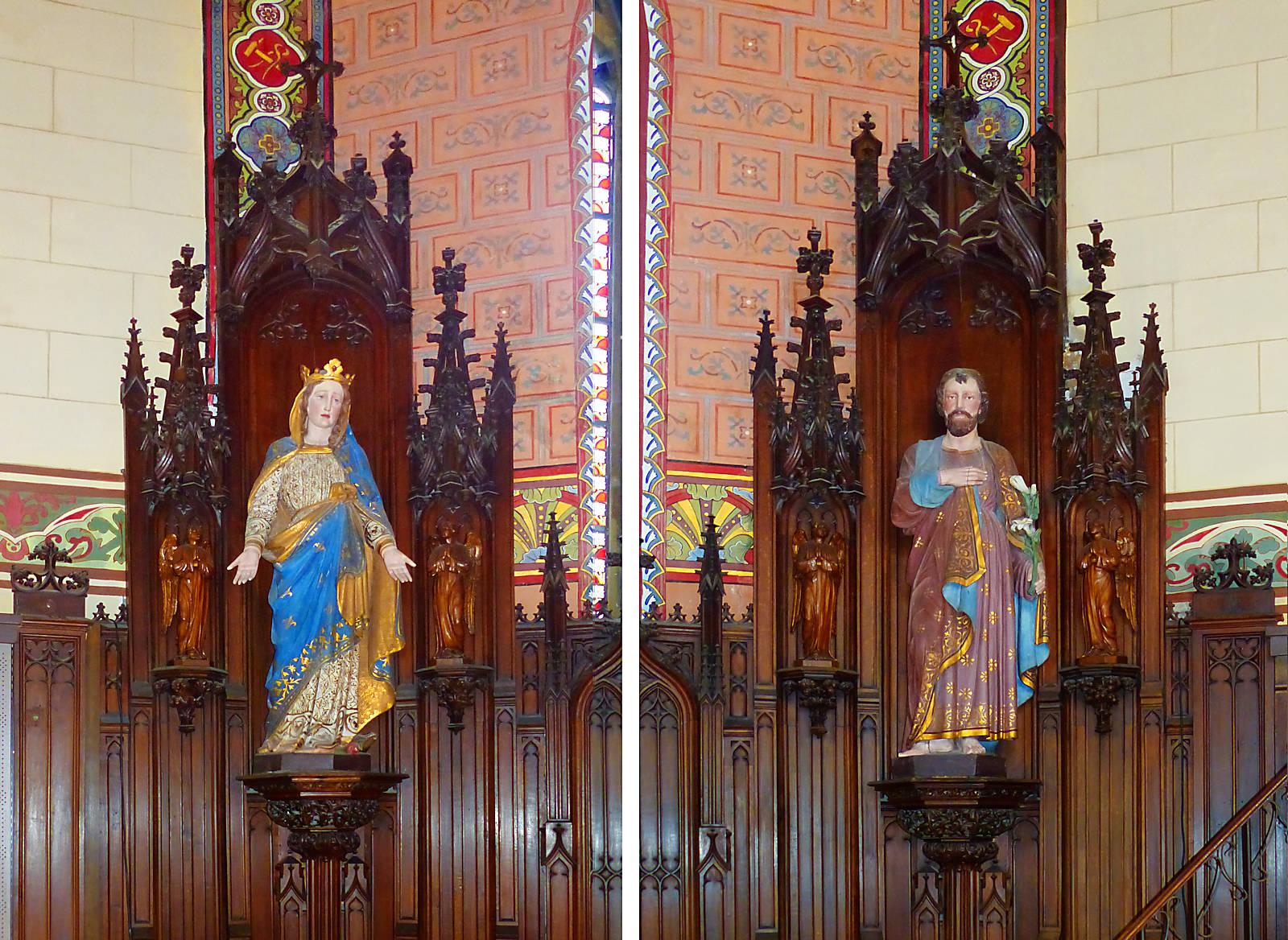 Photos Statues de Marie et de Joseph - Chapelle Hospice d'Havré, Tourcoing