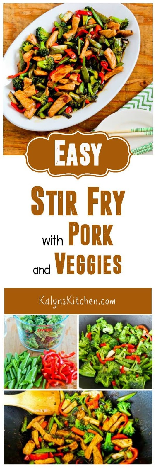Easy Stir-Fry with Pork and Veggies was first posted for Sweetnicks ...
