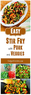 Easy Stir Fry with Pork and Veggies found on KalynsKitchen.com
