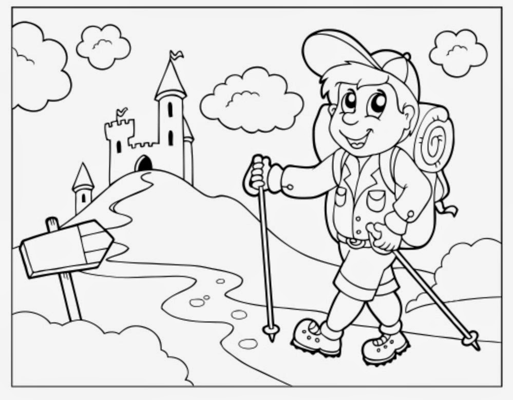 Day Hiking Trails: Getting kids excited to hike: Coloring