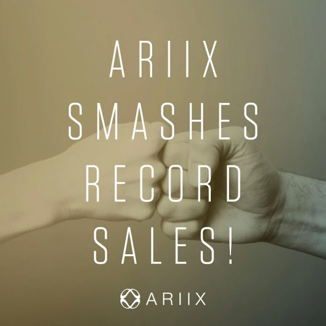 Ariix Smashes Record Sales