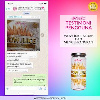 Testimoni Wow Juice