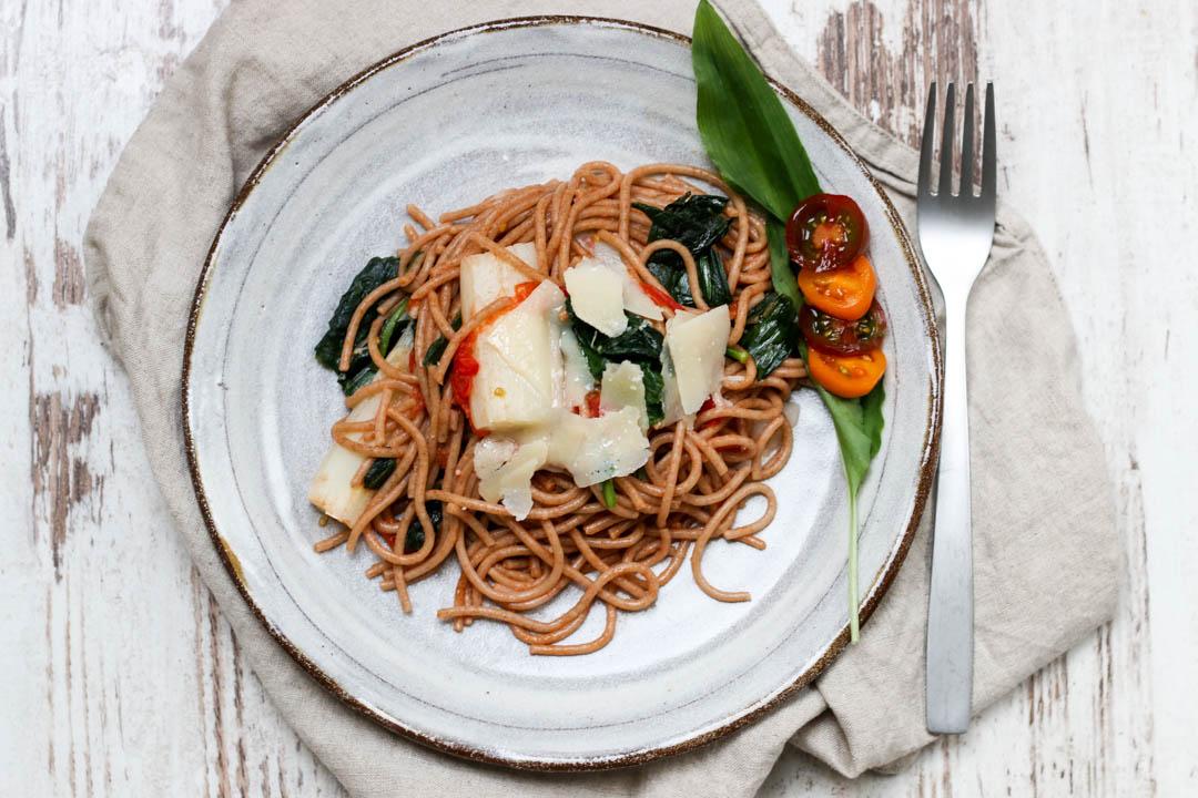 Pasta, Bärlauch, Spargel, Spaghetti, Spargel-Bärlauch-Pasta, Fleurcoquet