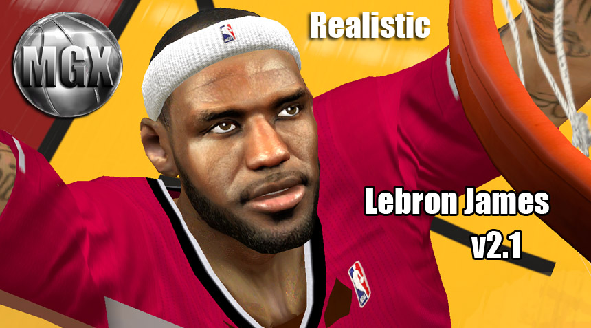 NBA 2K14 LeBron James Realistic Face Mod