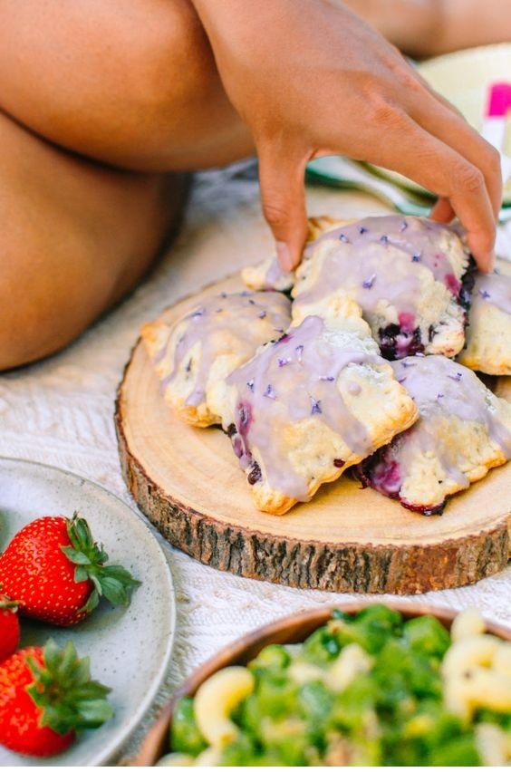 Vegan Lavender Blueberry Pop Tarts