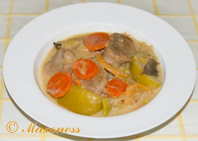 Свинина по-нормандски. Французская кухня.