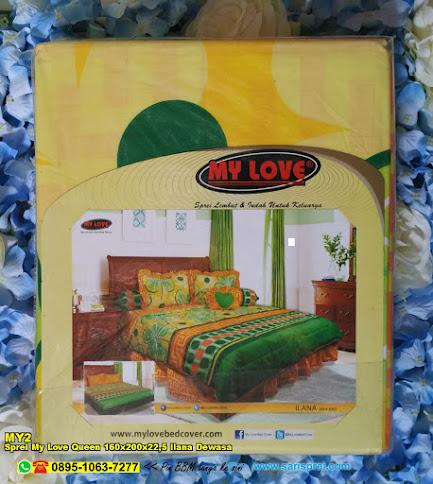 Sprei My Love Queen 160x200x22,5 Ilana Dewasa