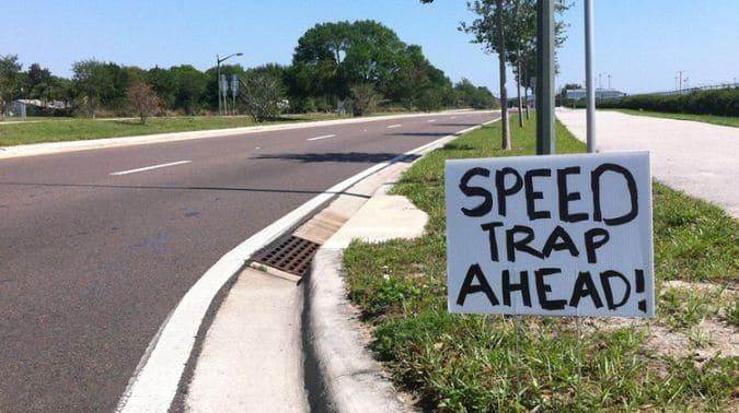 avoid speed trap