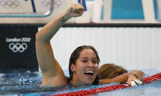Ranomi Kromowidjojo Celebrate in London Olympic 2012