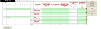 Income from outside in india, NRI Income,e filing itr 3 online,income tax return,income tax calculation,