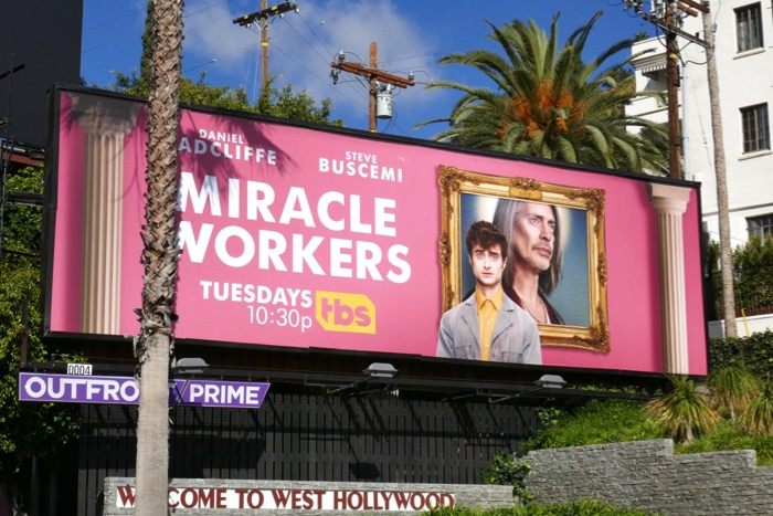 Miracle Workers season 1 billboard