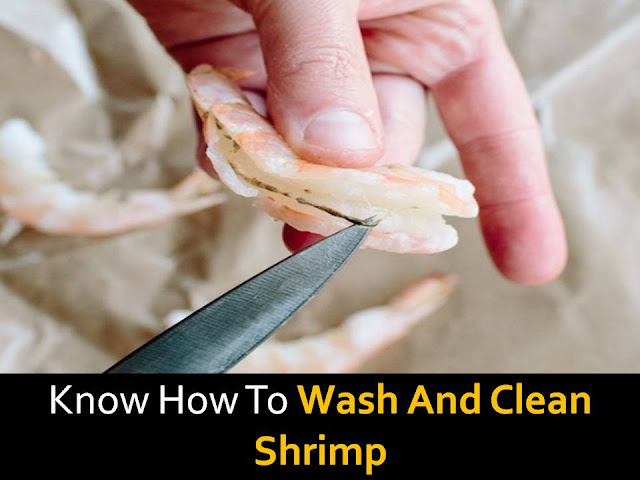 wash and clean shrimp