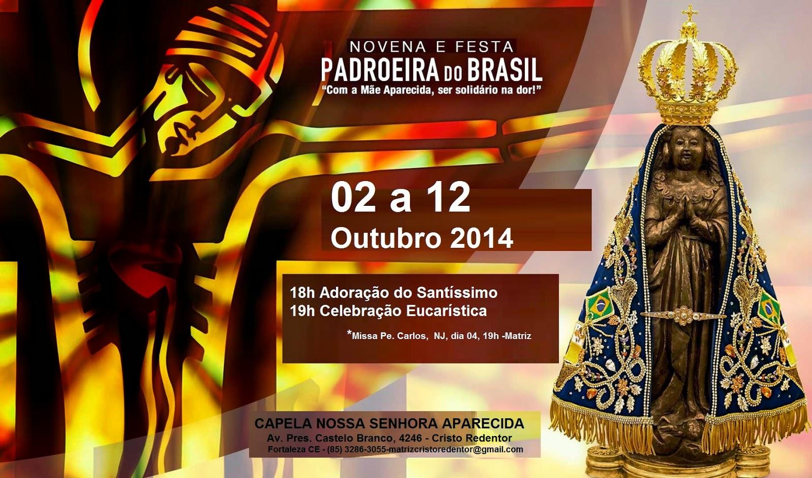 Nossa Senhora Aparecida Mãe Da Família Brasileira: Paróquia Cristo Redentor: FESTA DE NOSSA