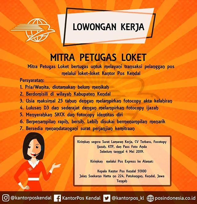 Lowongan Kerja Pos Indonesia Wilayah Kendal