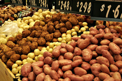 Market display of potato varieties