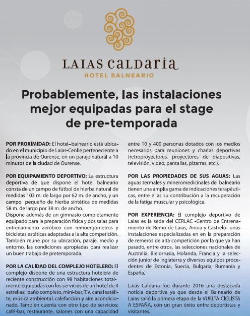 Instalaciones Balneario Caldaria Laias Fútbol Remo