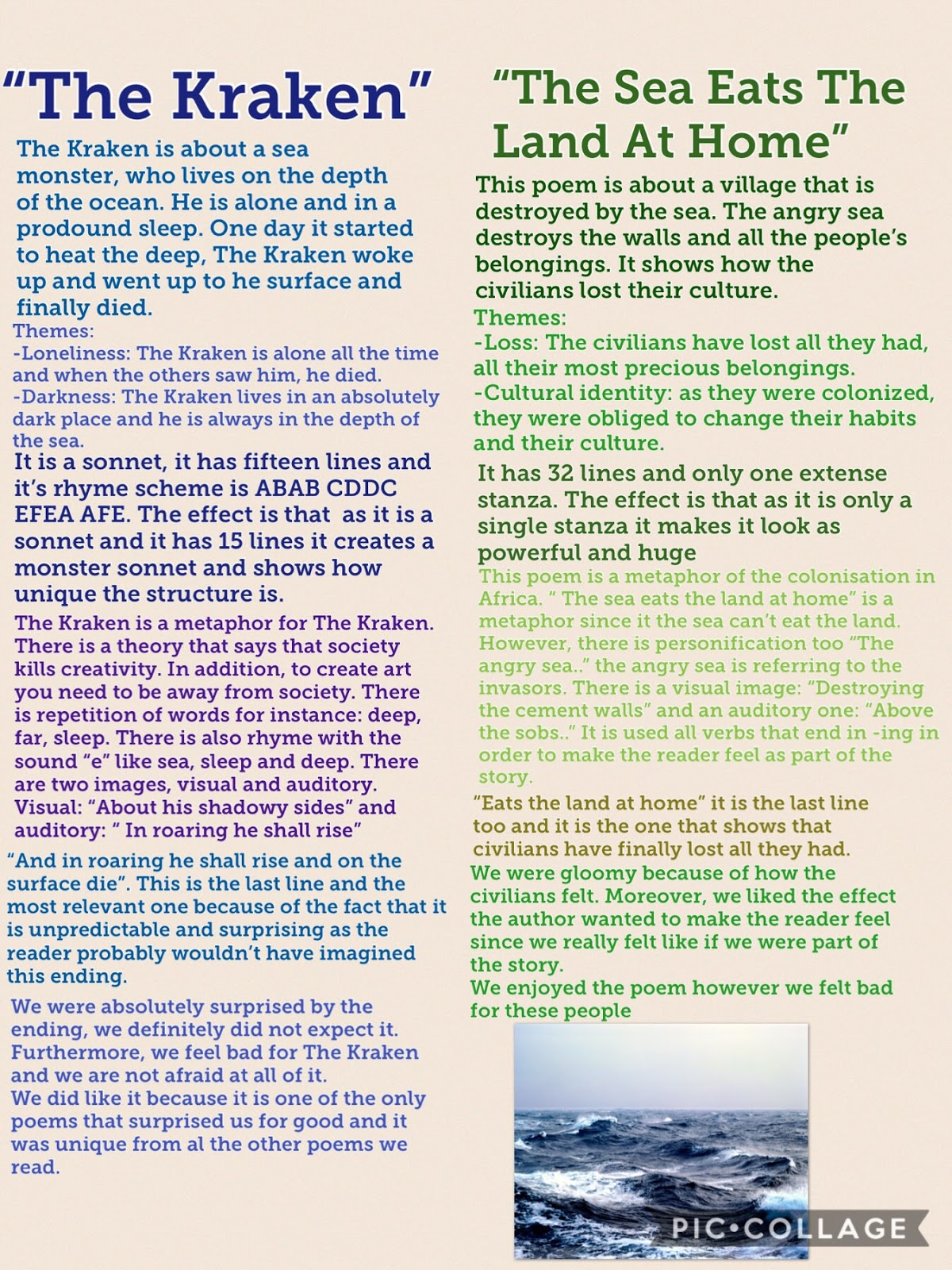 By The Sea Poem Analysis