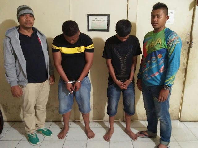 Dua tersangka narkoba di Tanjungbalai yang diringkus polisi.