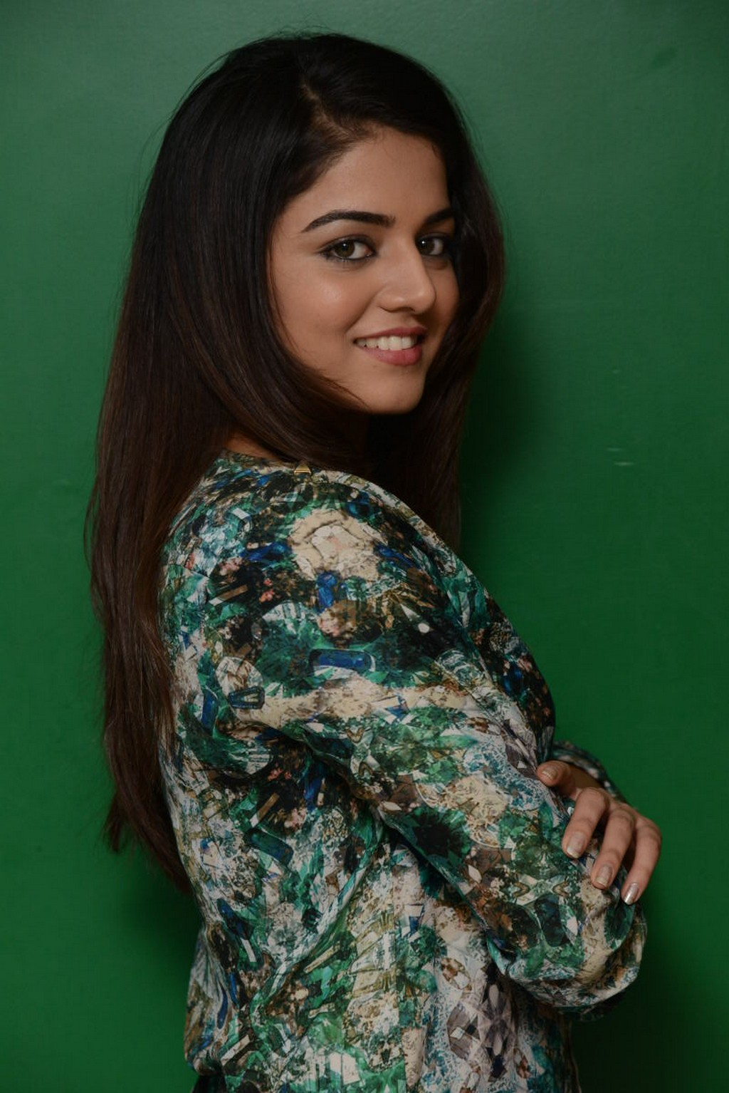 Glamours Actress Wamiqa Gabbi Hot Stills In Green Top Jeans