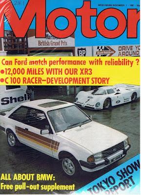 Motor Magazine Nov 1981 Ford Escort XR3i