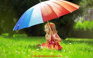 Child care in rainy season