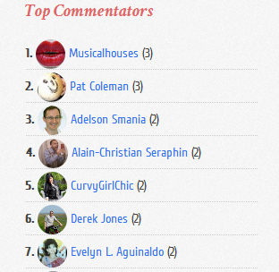 Top Most Commentators Widget For Blogger