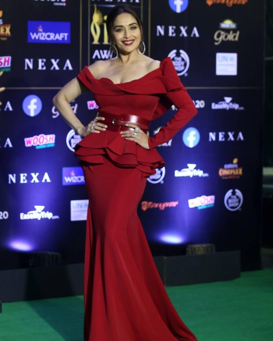 Indian Model Madhuri Dixit At Green Carpet Of IIFA Awards
