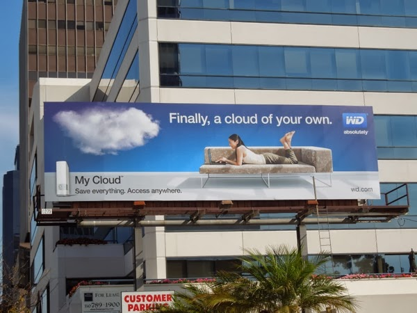 WD My Cloud billboard