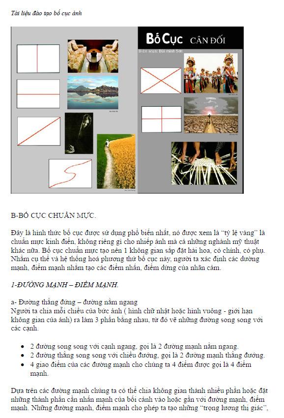Tài liệu giáo trình học bố cục toàn tập cho nhiếp ảnh và thiết kế