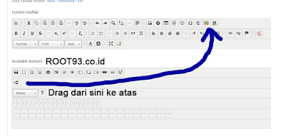 Konfigurasi Toolbar CKEditor dengan IMCE