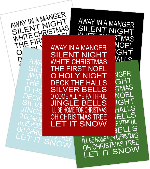 Christmas Subway Art Free Printable.Yellow Bliss Road