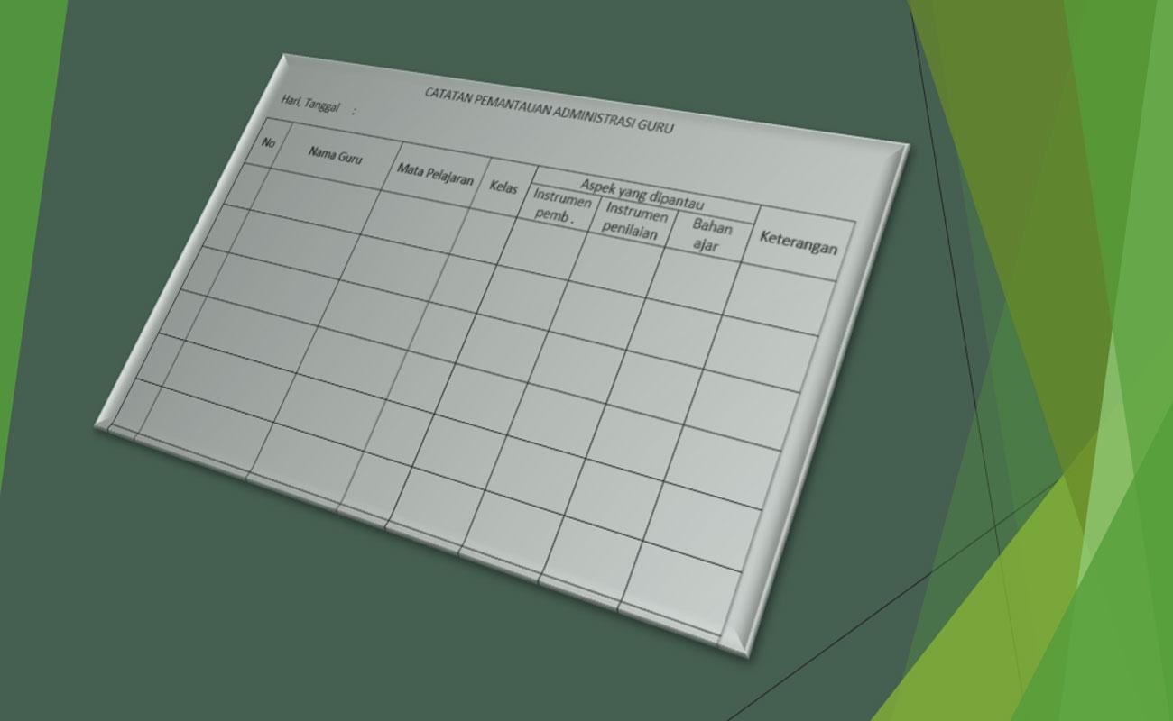 Download Contoh Administrasi Pemantauan Guru Format Word
